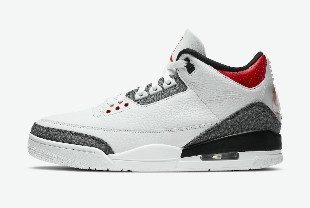 2021 Cheap Nike Air Jordan 3 SE-T Fire Red White Fire Red-Black CZ6433-100 On VaporMaxRunning