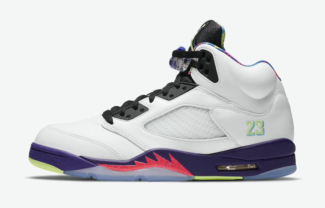2021 Cheap Nike Air Jordan 5 Alternate Bel-Air White Court Purple-Racer Pink-Ghost Green DB3335-100 On VaporMaxRunning