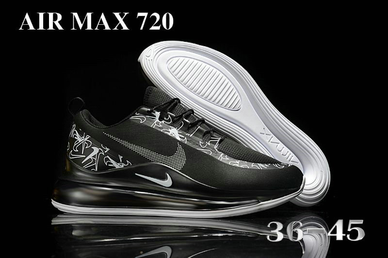 2021 Cheap Nike Air Max 720 Black Grey On VaporMaxRunning