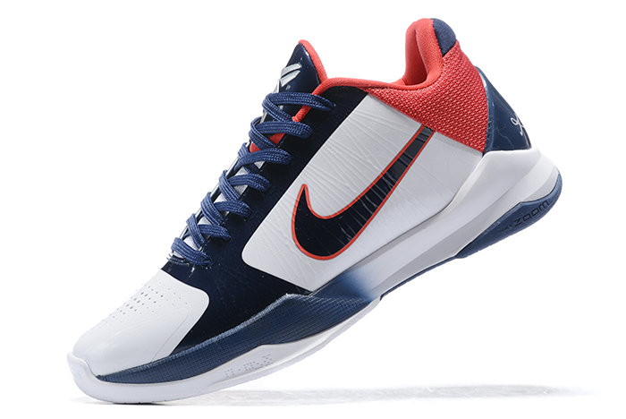 2021 Cheap Nike Kobe 5 Protro USA White Obsidian-Sport Red On VaporMaxRunning