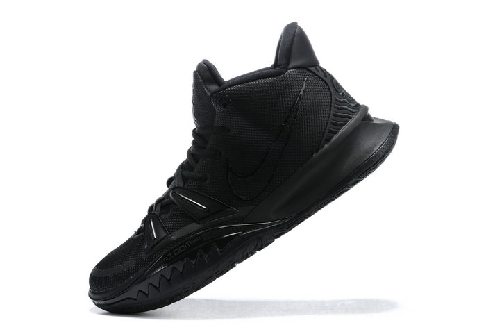 2021 Cheap Nike Kyrie 7 Triple Black On VaporMaxRunning