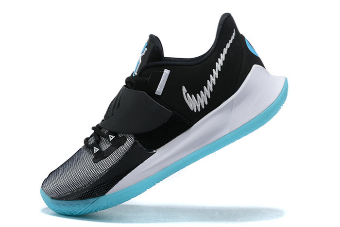 2021 Cheap Nike Kyrie Low 3 Black White-Icy Blue Outlet Sale CJ1286-001 On VaporMaxRunning