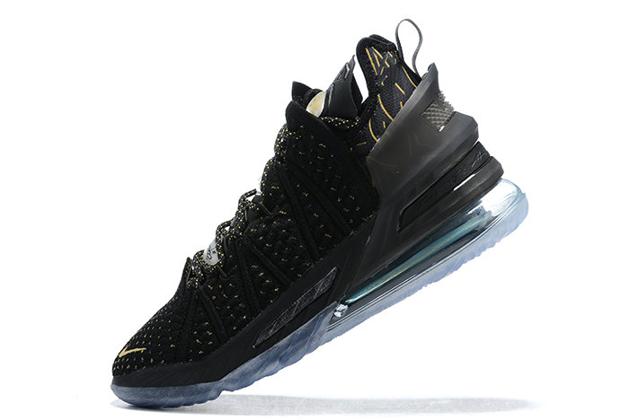 2021 Cheap Nike Lebron 18 Black Gold On VaporMaxRunning