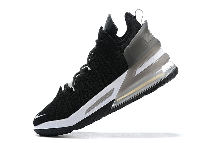 2021 Cheap Nike Lebron 18 Black White On VaporMaxRunning