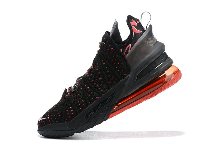 2021 Cheap Nike Lebron 18 Bred Black Red-White Outlet On VaporMaxRunning