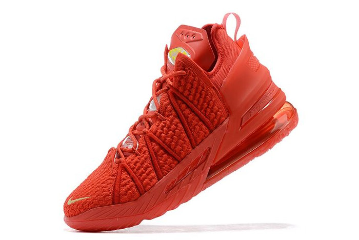 2021 Cheap Nike Lebron 18 University Red Gold On VaporMaxRunning