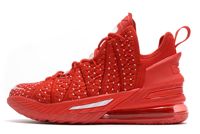 2021 Cheap Nike Lebron 18 University Red White On VaporMaxRunning