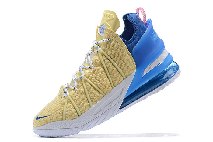 2021 Cheap Nike Lebron 18 Yellow Blue-White-Pink On VaporMaxRunning