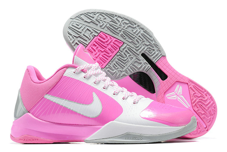 2021 Cheap Nike Zoom Kobe 5 Pink White Grey On VaporMaxRunning