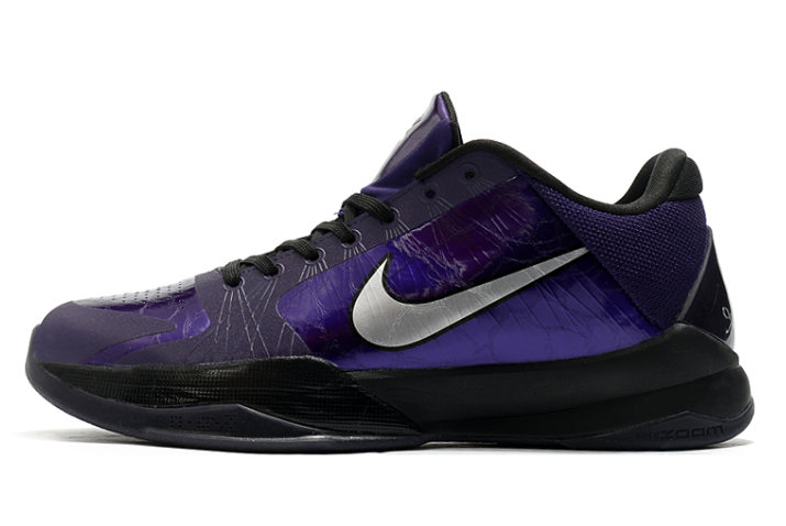 2021 Cheap Nike Zoom Kobe 5 Purple Metallic Silver-Black-Ice 386429-500 On VaporMaxRunning