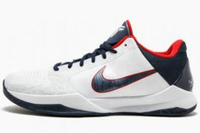 2021 Cheap Nike Zoom Kobe 5 USA White Obsidian-Sport Red 386430-103 On VaporMaxRunning