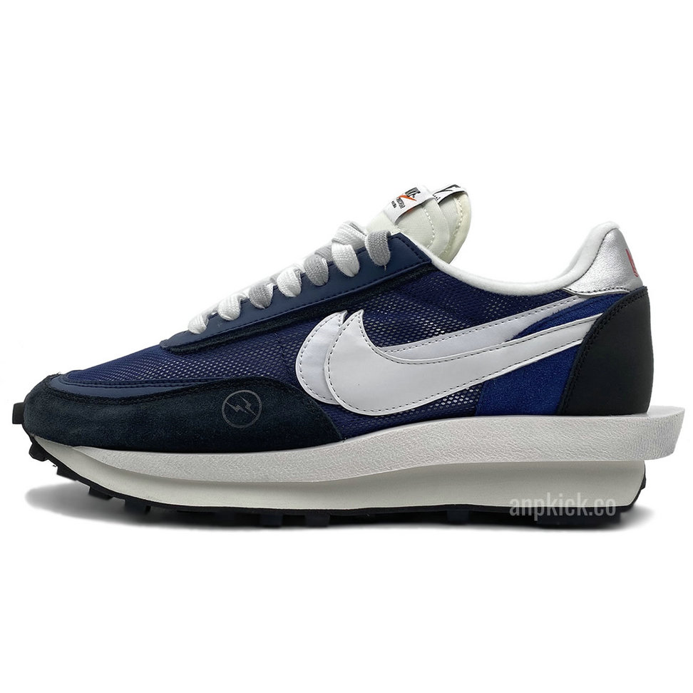 2021 Cheap Sacai x Fragment Design x Nike Lvd Waffle Daybreak Grid Navy Blue Black BV0073-008 On VaporMaxRunning