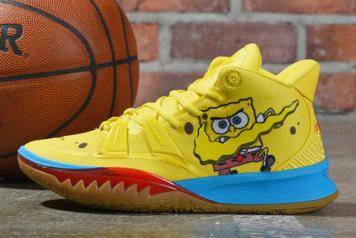 2021 Cheap Spongebob Squarepants X Nike Kyrie 7 Spongebob Opti Yellow On VaporMaxRunning