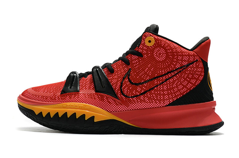 2021 Kids Cheap Nike Kyrie Irving 7 Red Black Gold On VaporMaxRunning