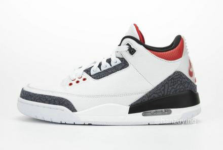 2021 Where To Buy Cheap Air Jordan 3 Retro se Denim vermelho fogo CZ6431-100 On VaporMaxRunning