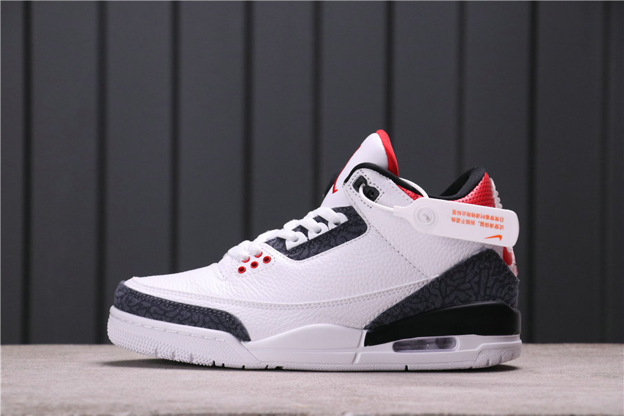 2021 Where To Buy Cheap Air Jordan 3 SE Denim Fire Red CZ6431-100 CZ6433-100 On VaporMaxRunning
