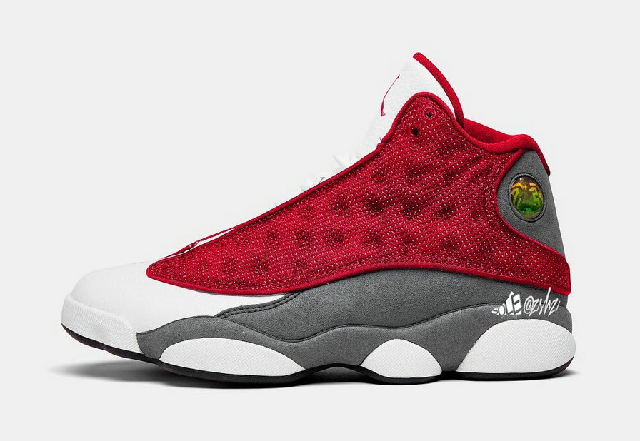 2021 Where To Buy Cheap Nike Air Jordan 13 Gym Red Flint Grey-White-Black 414571-600 On VaporMaxRunning