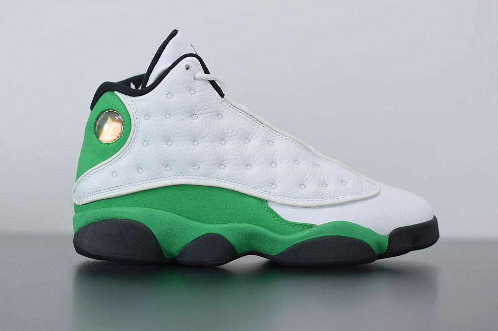 2021 Where To Buy Cheap Nike Air Jordan 13 Retro Ray Allen PE White Clover 414571-125 On VaporMaxRunning