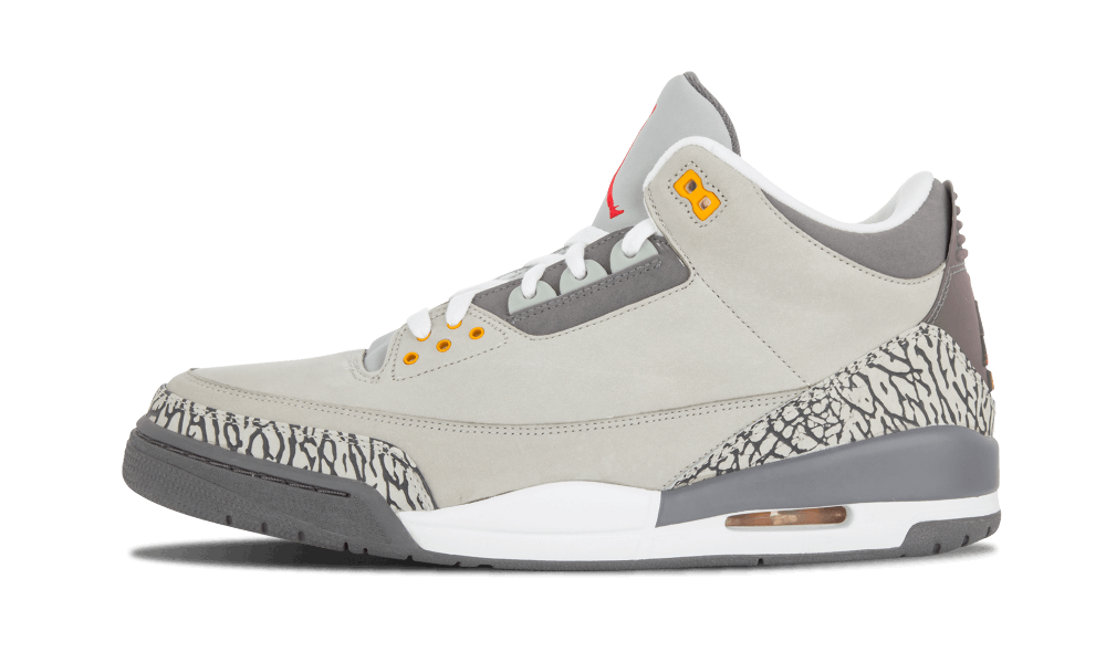 2021 Where To Buy Cheap Nike Air Jordan 3 Cool Grey Silver Light Graphite-Orange Peel-Sport Red CT8532-012 On VaporMaxRunning