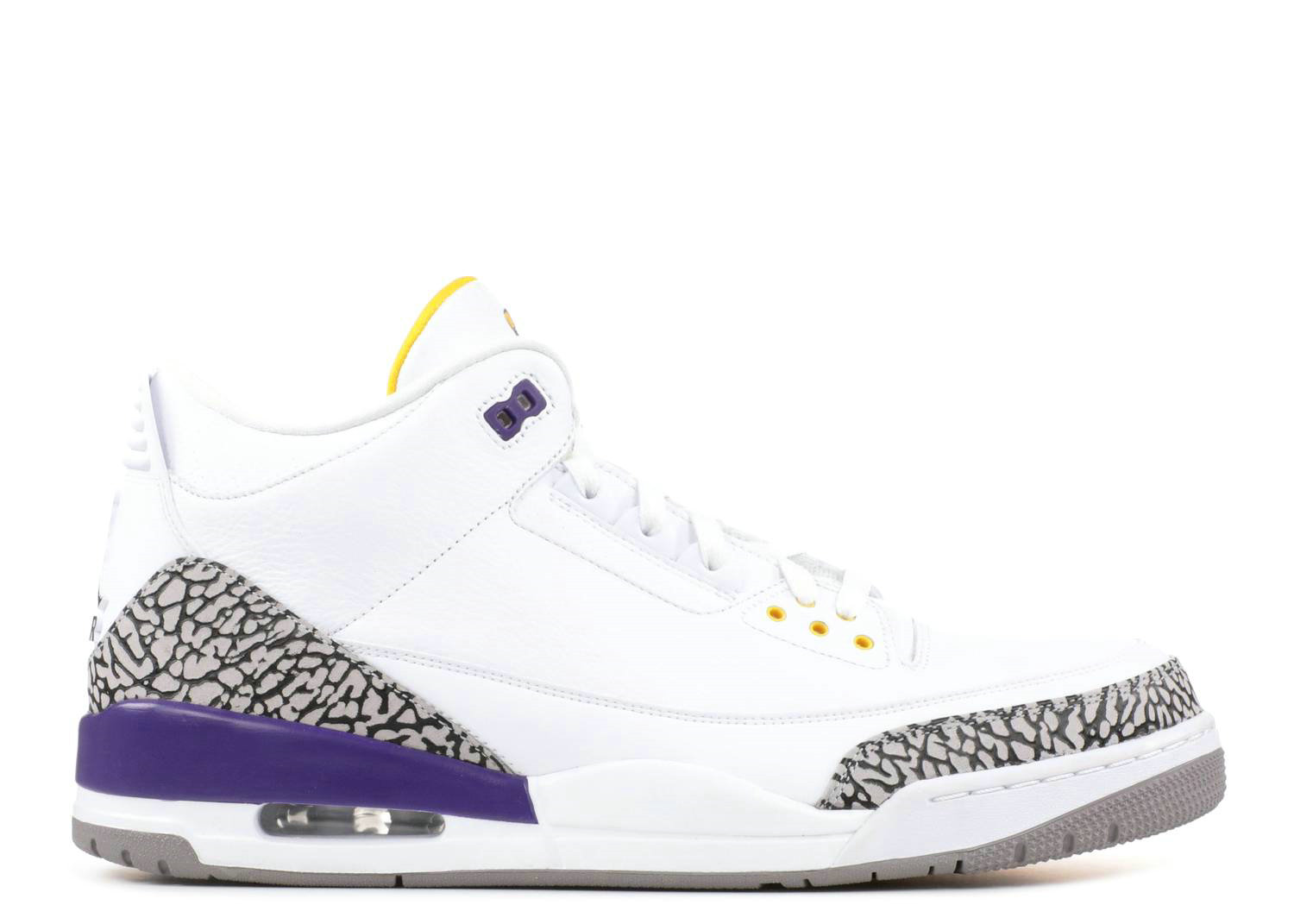 2021 Where To Buy Cheap Nike Air Jordan III 3 Retro White Purple Yellow Black Cement 136064-115 On VaporMaxRunning