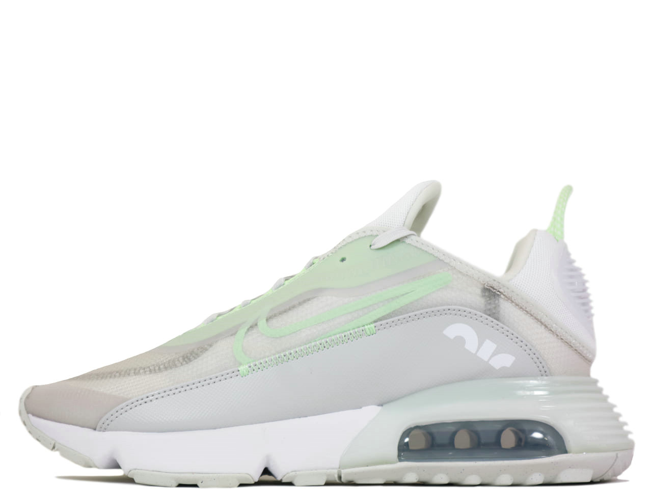 2021 Where To Buy Cheap Nike Air Max 2090 Vast Grey Vapor Green-Flat Pewter-White CT1091-001 On VaporMaxRunning