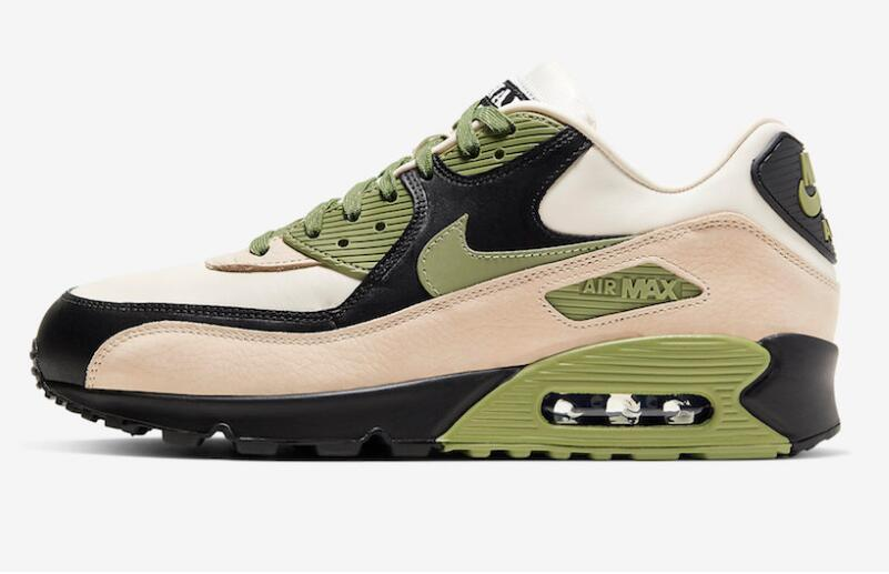 2021 Where To Buy Cheap Nike Air Max 90 Lahar Escape Light Cream Alligator-Pale Ivory-Black CI5646-200 On VaporMaxRunning