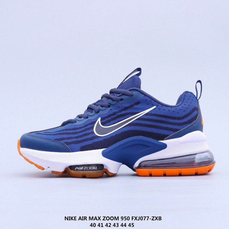 2021 Where To Buy Cheap Nike Air Max 950 Blue Orange White On VaporMaxRunning