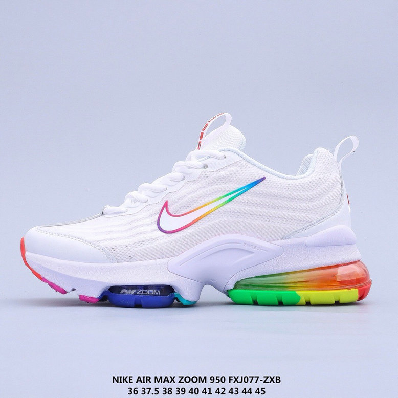 2021 Where To Buy Cheap Nike Air Max 950 White Colorful On VaporMaxRunning