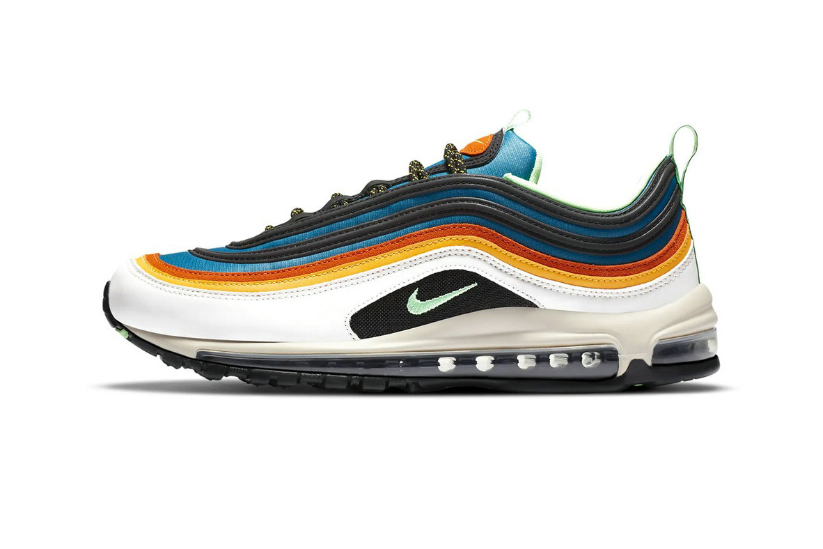 2021 Where To Buy Cheap Nike Latest Air Max 97 Pops With Multi-Colored Stripes CZ7868-300 On VaporMaxRunning