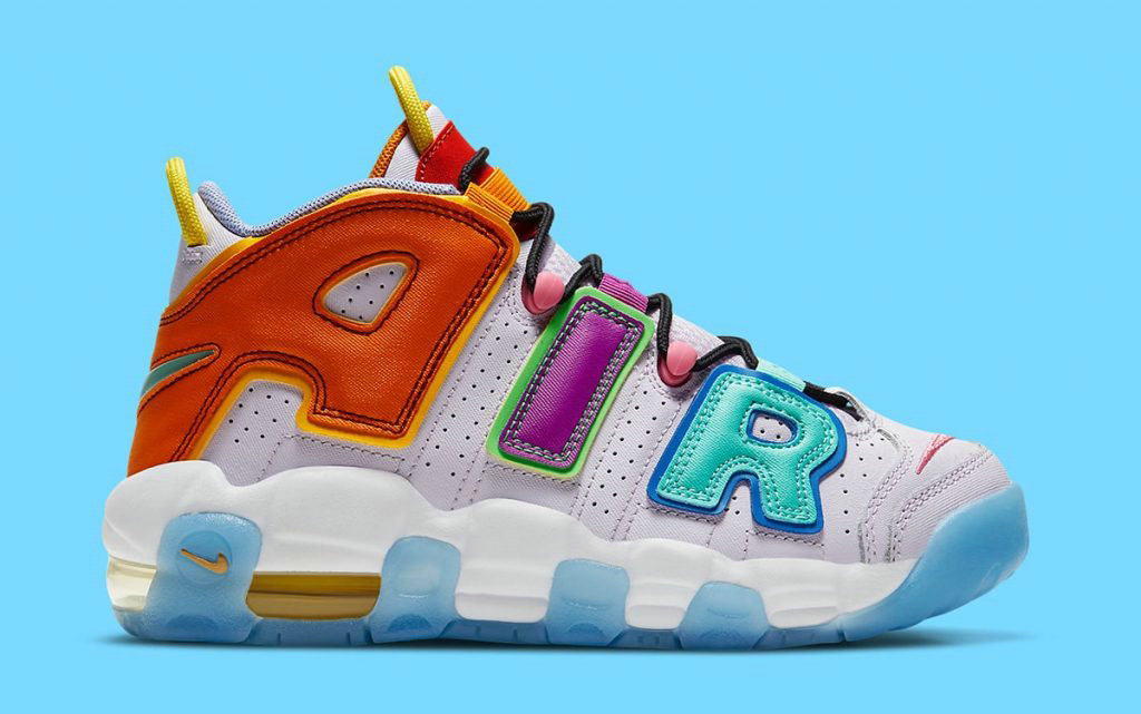 2021 Where To Buy Womens Cheap Nike Air More Uptempo Mix-n-Match Barely Grape Opti Yellow Vivid Purple Orange Peel DH0624-500 On VaporMaxRunning