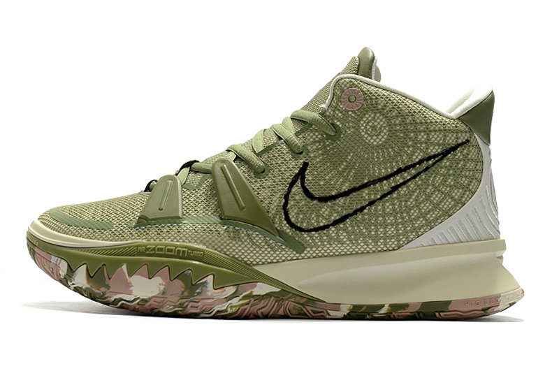 2021 Womens Cheap Nike Kyrie Irving 7 Green Rose Pink On VaporMaxRunning