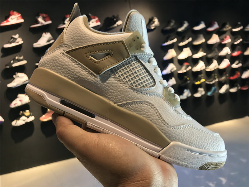 2018 New Jordan Shoes Cheap Air Jordan 4 Retro GS Linen