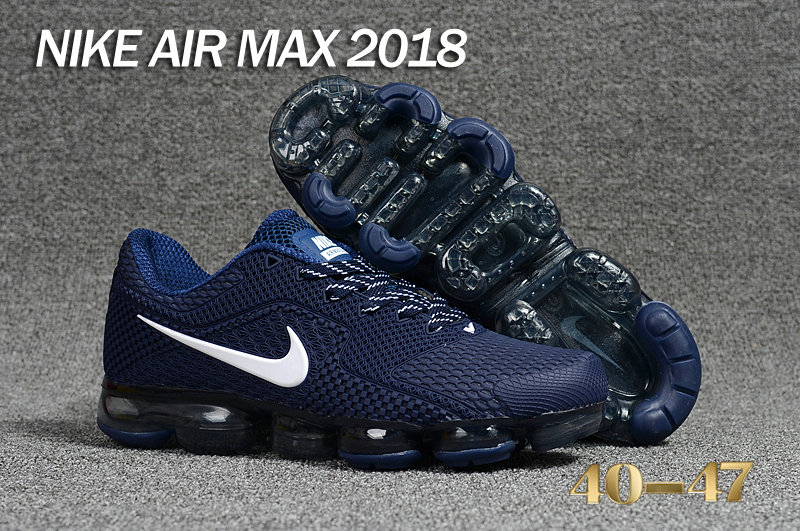 Air Maxs Cheap Nike Air Max Day 2018 Deep Blue White On VaporMaxRunning