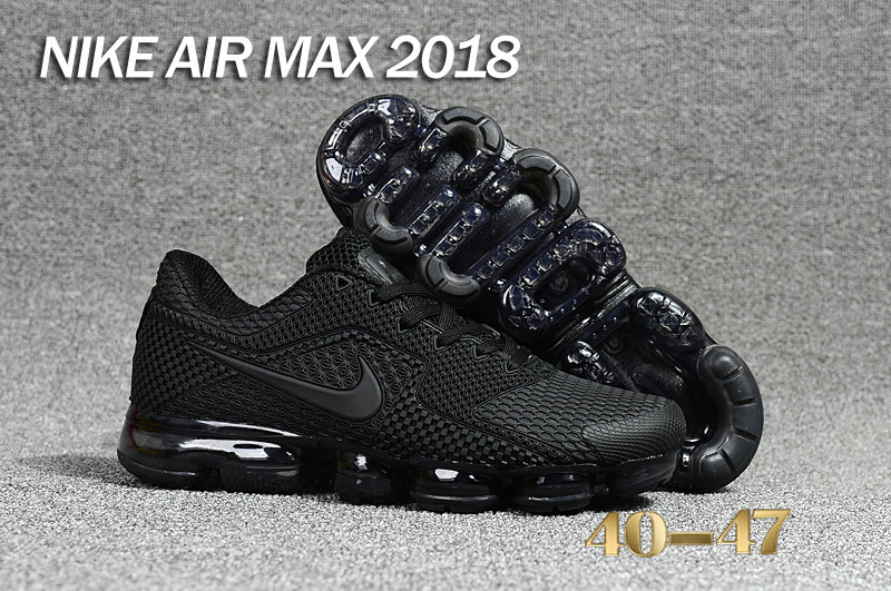 Air Maxs Cheap Nike Air Max Day 2018 Triple Black On VaporMaxRunning