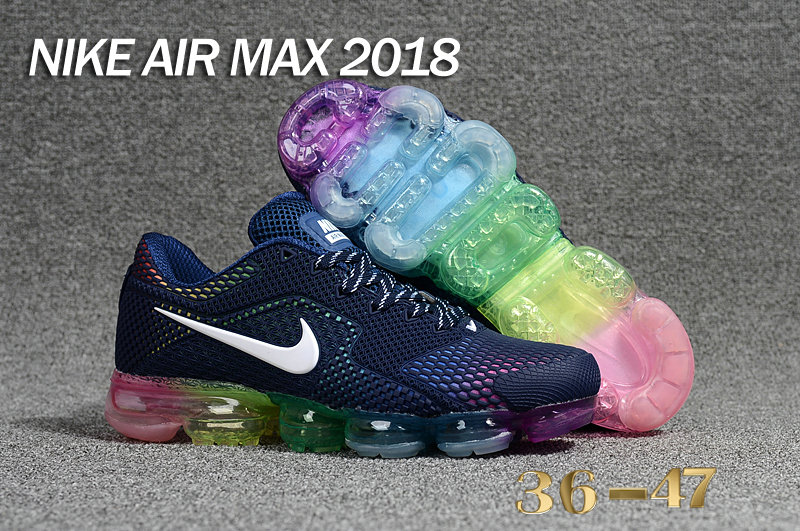 Air Maxs Cheap WMNS Nike Air Max Day 2018 Be True Deep Blue On VaporMaxRunning