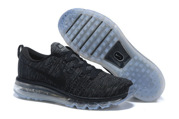 All Black Grey Flyknit Air Max On VaporMaxRunning