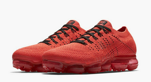 CHEAP NIKE AIR VAPOR MAX WOMENS RED BLACK RUNNING SHOES On VaporMaxRunning
