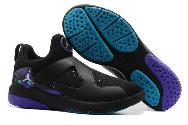 Cheap Air Jordan 8 Trainer Essential Black Blue Purple On VaporMaxRunning