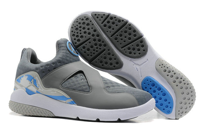 Cheap Air Jordan 8 Trainer Essential Grey White Blue On VaporMaxRunning