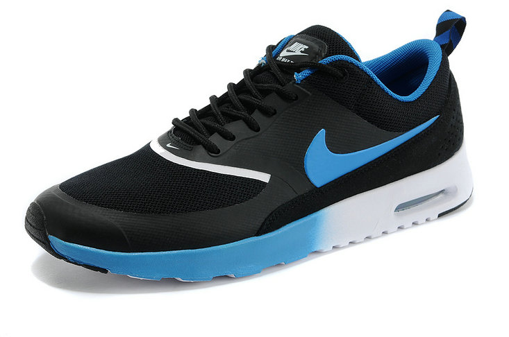 Cheap Air Max Thea Black Royal Blue White On VaporMaxRunning