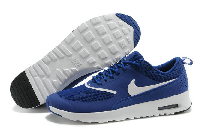 Cheap Air Max Thea Royal Blue White On VaporMaxRunning