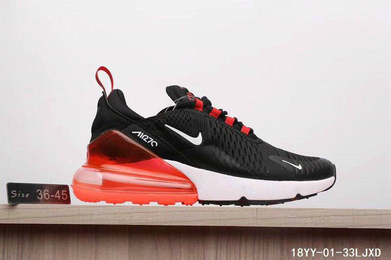 fd9846a5eb0e New 2018 Air Max Cheap x Nike Air Max 270 Black Gym Red-White On ...