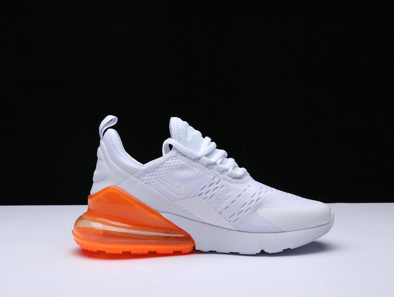 b89ab3e0eb New 2018 Air Max Cheap x Nike Air Max 270 Triple White Orange On  VaporMaxRunning