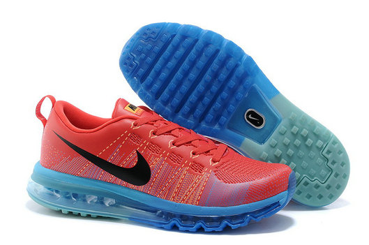 Cheap Flyknit Air Max Running Red Blue Black On VaporMaxRunning