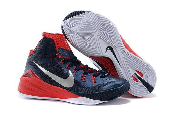 Cheap Hyperdunk 2014 Fire Red Navy Blue White On VaporMaxRunning