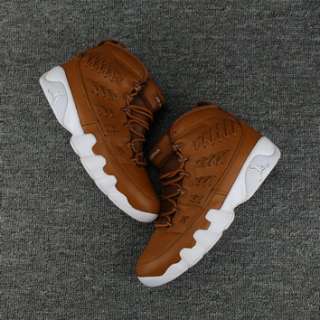 Cheap Jordan Shoes Cheap Air Jordan 9 White Brown On VaporMaxRunning