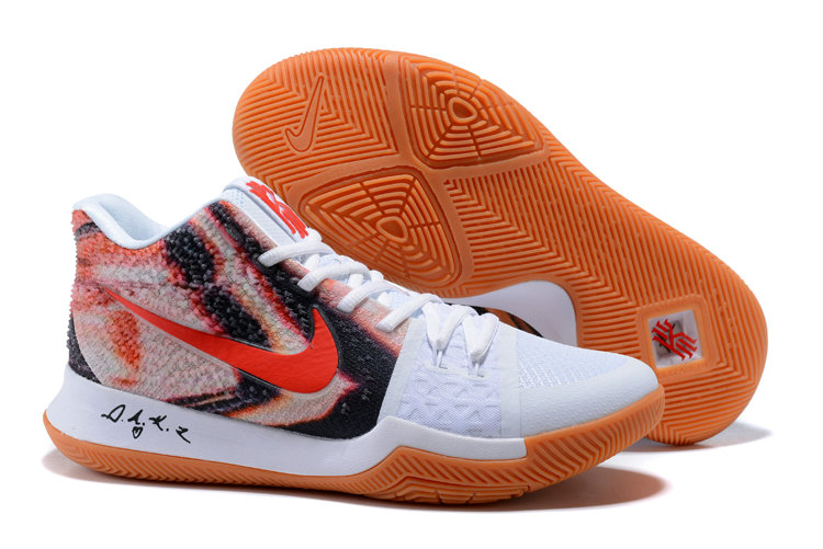 8d9971ef817 Cheap Kyrie 3 Nike Kyrie Irving 3 Air Cushion Red White Orange On  VaporMaxRunning