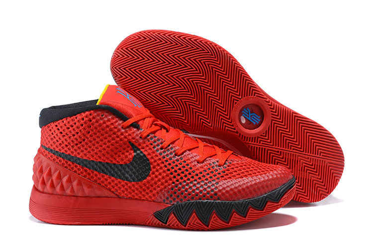 Cheap Kyrie Irving Nike Kyrie 1 Deceptive Red Official On VaporMaxRunning