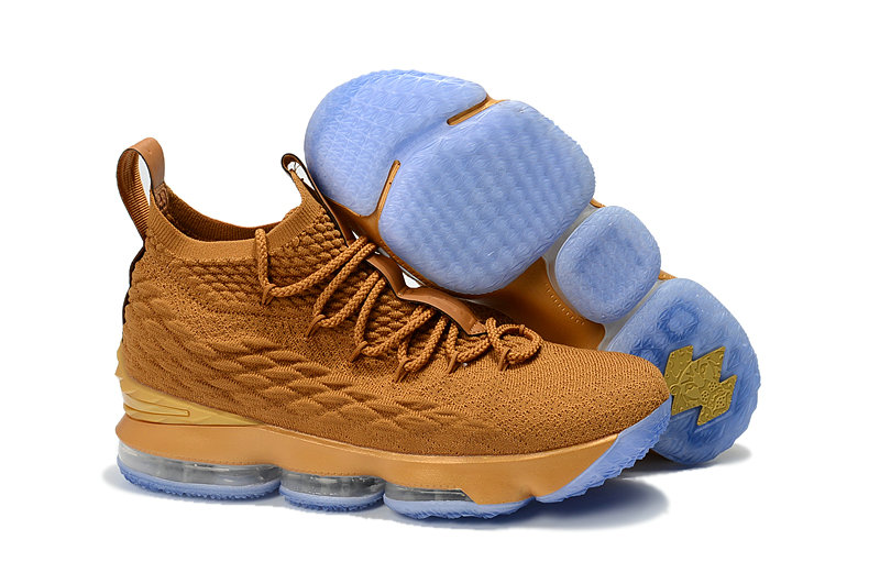 e1d670aad828f Cheap LeBron James Debuts Gold Nike LeBron 15 Custom from The Shoe Surgeon  On VaporMaxRunning