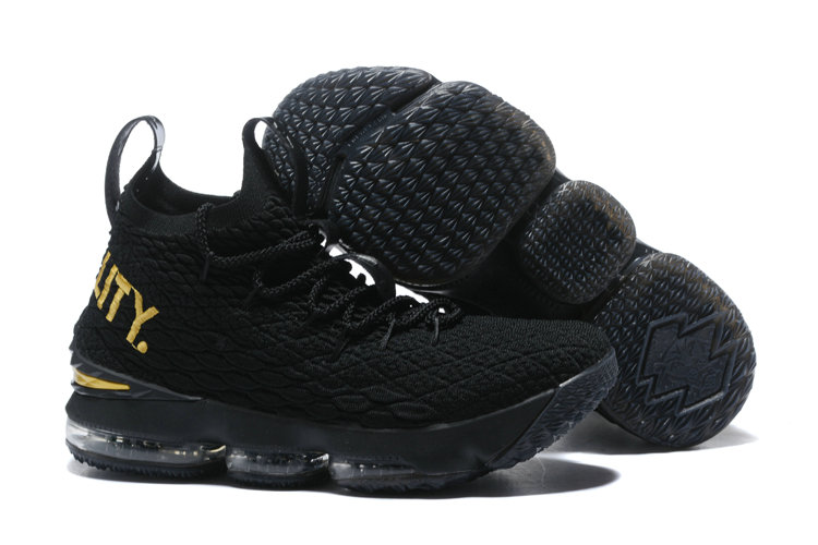 check out 37d8c a6425 Cheap LeBron James Sports Alternate White Black Nike LeBron 15 With Message  Of Equality On VaporMaxRunning